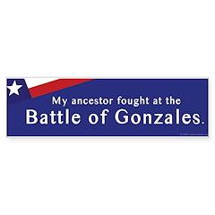 Battle of Gonzales Bumper Bumper Sticker