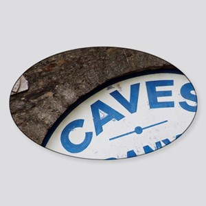 Wine cellar sign in blue. Collioure Sticker (Oval)