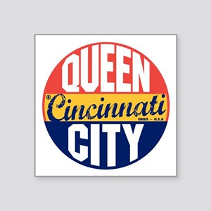 "Cincinnati Vintage Label B Square Sticker 3"" x 3"""