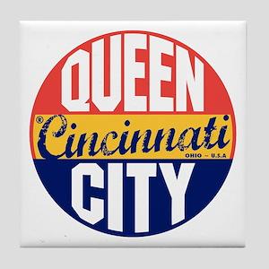 Cincinnati Vintage Label B Tile Coaster