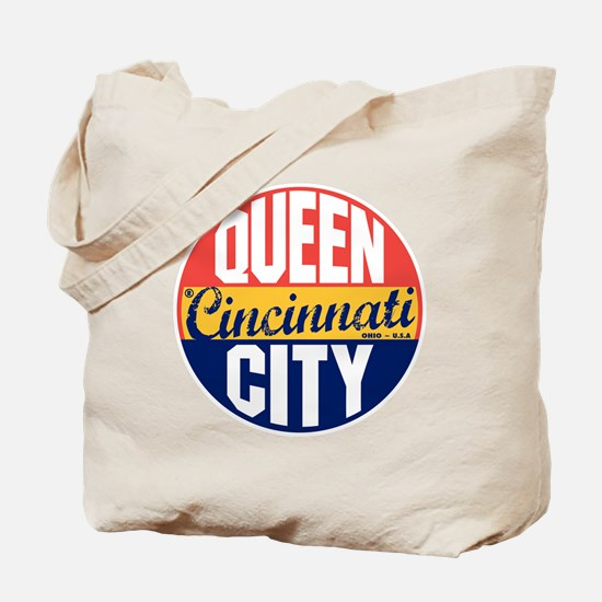 Cincinnati Vintage Label B Tote Bag