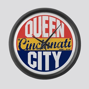 Cincinnati Vintage Label B Large Wall Clock