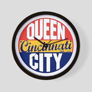 Cincinnati Vintage Label B Wall Clock