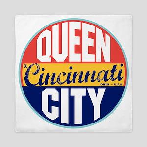 Cincinnati Vintage Label W Queen Duvet