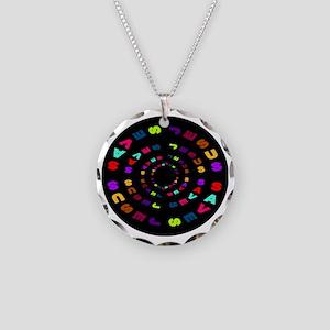 Jesus Saves Black Circle Necklace Circle Charm