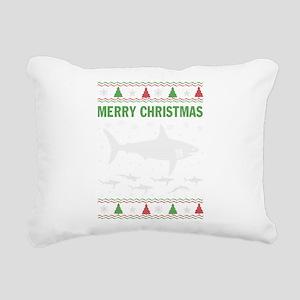 Shark Christmas Rectangular Canvas Pillow