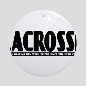 Lacrosse Beating People Ornament (Round)