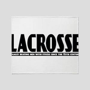 Lacrosse Beating People Throw Blanket