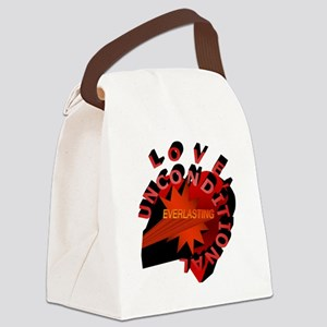 Love Unconditional Everlasting Canvas Lunch Bag