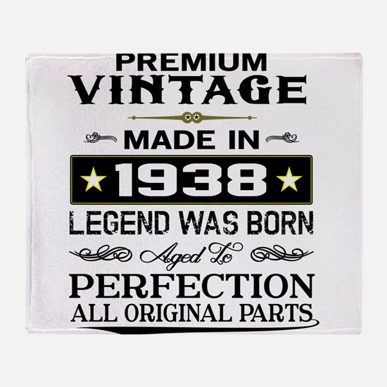PREMIUM VINTAGE 1938 Throw Blanket
