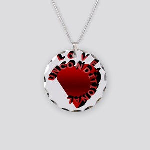 Love Unconditional Necklace Circle Charm