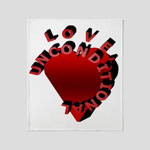 Love Unconditional Throw Blanket