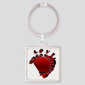 Love Unconditional Square Keychain