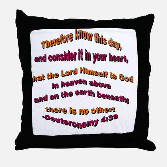 The Lord is God Throw Pillow