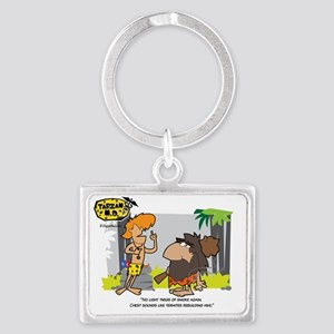 tarzan-md-smoking-medical-humor Landscape Keychain