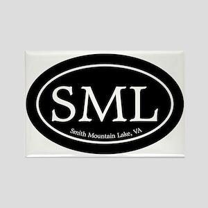 SML.ovalsticker.black Rectangle Magnet