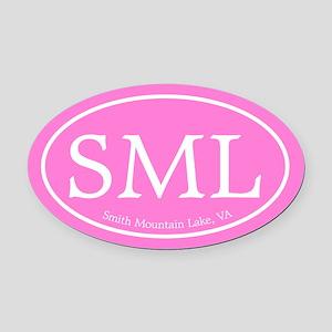 SML.ovalsticker.pink Oval Car Magnet