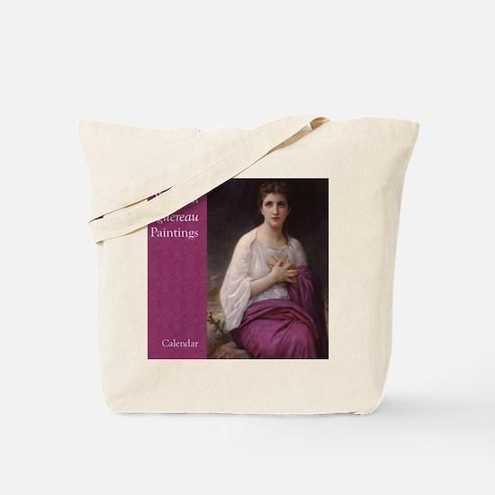 Bouguereau Paintings Wall Calendar cover  Tote Bag