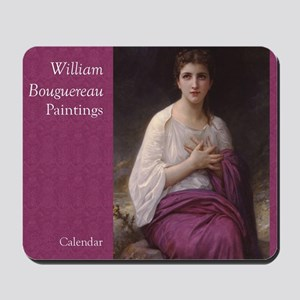 Bouguereau Paintings Wall Calendar cover Mousepad