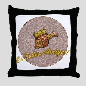 mayan-cal-toon-T Throw Pillow