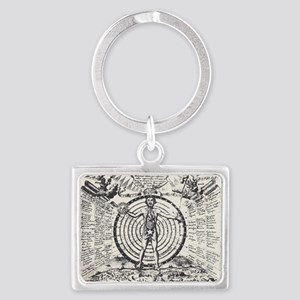 Alchemical Man Landscape Keychain