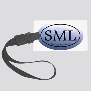SML.ovalsticker.bluewater Large Luggage Tag