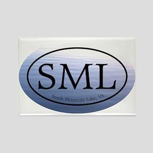 SML.ovalsticker.bluewater Rectangle Magnet
