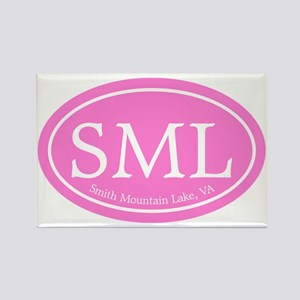 SML.ovalother.pink Rectangle Magnet