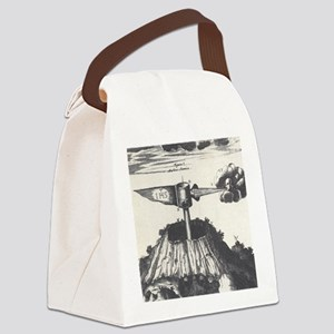 Medieval Machine Mountain Canvas Lunch Bag