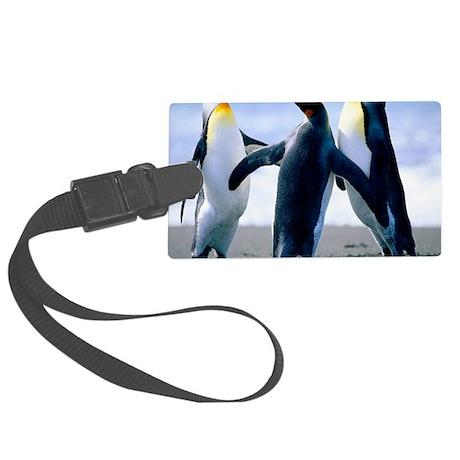 Penguins - Copy Large Luggage Tag