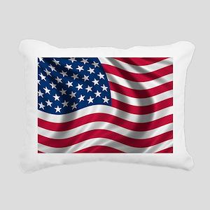 usflag Rectangular Canvas Pillow