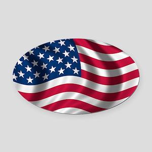 usflag Oval Car Magnet