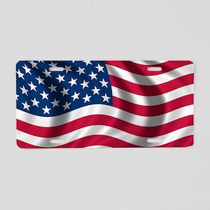 74d471afe883 Us Flag. usflag Aluminum License Plate