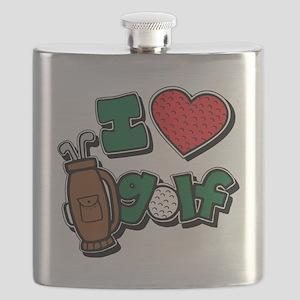 I love golf, colored2 grapic Flask