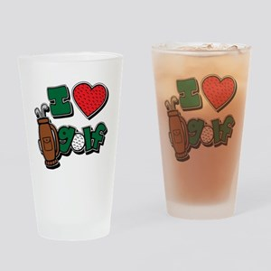I love golf, colored2 grapic Drinking Glass