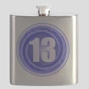 B-DAY BLUE 13TH Flask