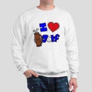 I love golf, on black RB2 grapic Sweatshirt