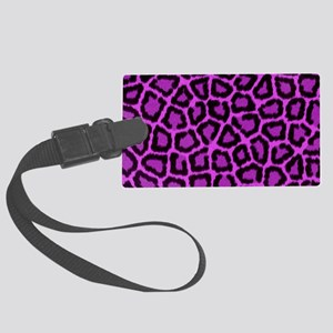 Toiletry Pink Leopard Large Luggage Tag