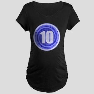 B-DAY BLUE 10TH Maternity Dark T-Shirt