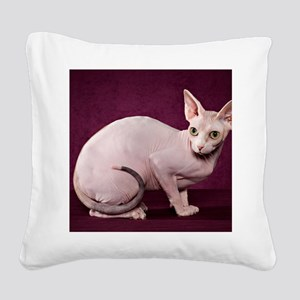 Sphynx10 Square Canvas Pillow