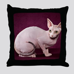 Sphynx10 Throw Pillow