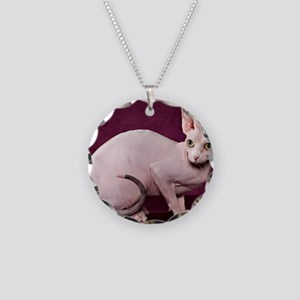 Sphynx10 Necklace Circle Charm