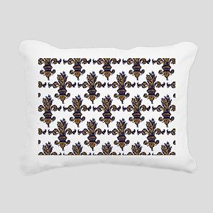 EnchFleurlaptopskinPTr Rectangular Canvas Pillow