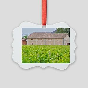 Chateau Plince winery Pomerol Bor Picture Ornament
