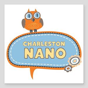"""nano-logo Square Car Magnet 3"""" x 3"""""""