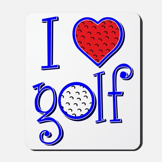I love golf, RWB grenouille Mousepad