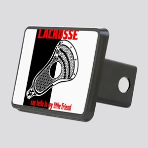 Lacrosse Say Hello Rectangular Hitch Cover