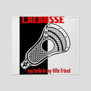 Lacrosse Say Hello Throw Blanket
