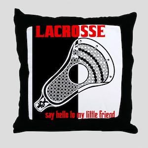 Lacrosse Say Hello Throw Pillow