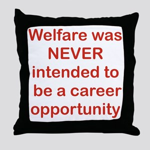 WELFARE WAS NEVER INTENDED TO BE A CA Throw Pillow